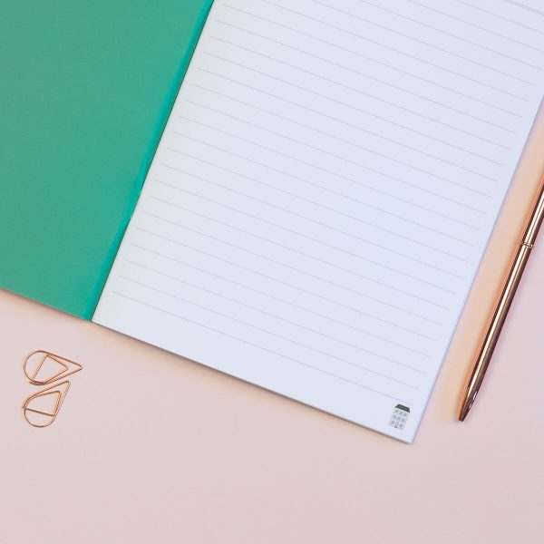 Geometric Shapes A5 Lined Notebook The Design Palette