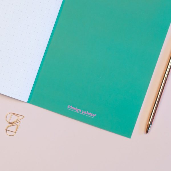 Geometric Shapes A5 Dotted Notebook The Design Palette