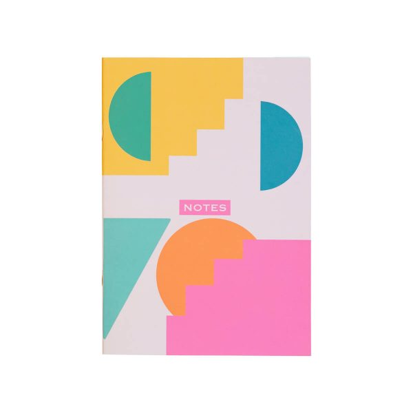 Geometric Shapes A5 Notebook The Design Palette