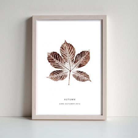 Autumn personalised leaf print by print nineteen on acorn and pip loves