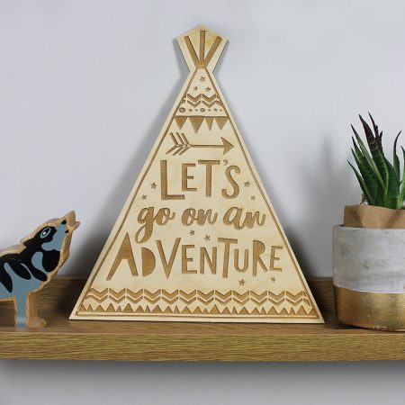 Wooden Adventure teepee by dotty black on acorn and pip loves