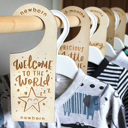Baby wardrobe dividers by dotty black on acorn and pip loves