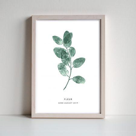 Eucalyptus sprig personalised leaf print by print nineteen on acorn and pip loves