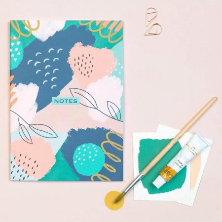 Floral Abstract A5 Notebook The Design Palette