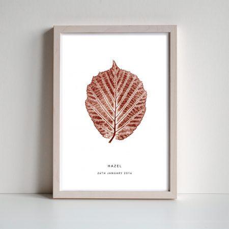 Hazel Leaf Monoprint by print nineteen on acorn and pip loves