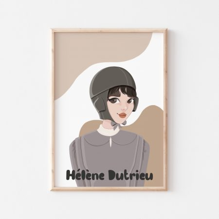 Helene Dutrieu Wall Art by Another Wild Story on Acorn and Pip Loves