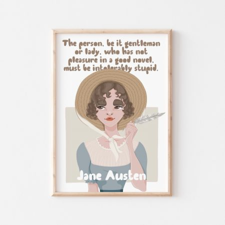 Jane Austen Wall Art by Another Wild Story on Acorn and Pip Loves