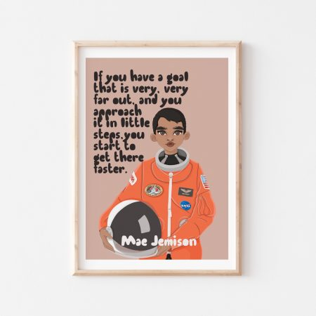 Mae Jemison Wall Art by Another Wild Story on Acorn and Pip Loves