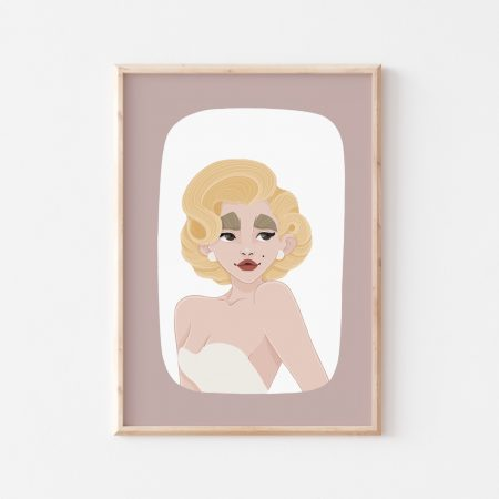 Marilyn Monroe Wall Art by Another Wild Story on Acorn and Pip Loves
