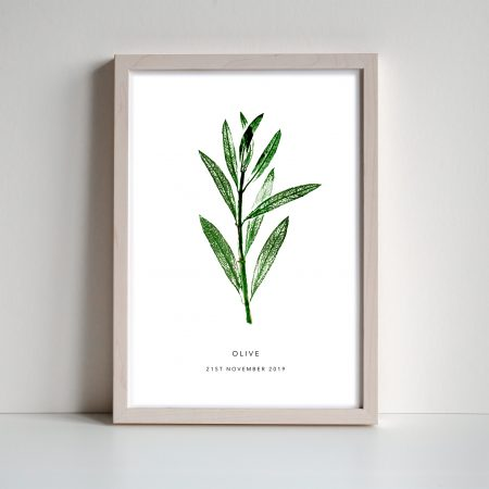 Personalised Ivy leaf print by print nineteen on acorn and pip loves