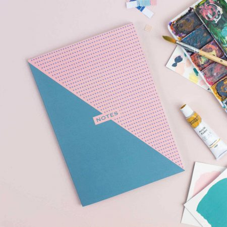 Teal and Pink Two Tone A5 Notebook The Design Palette