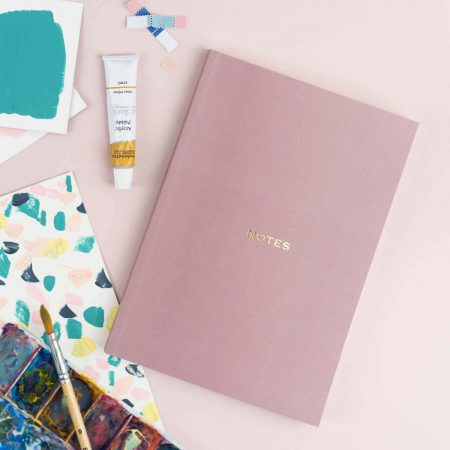 Blush Marble A5 Notebook The Design Palette