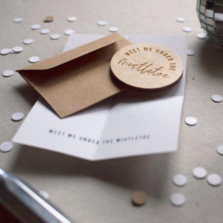 wooden pocket token