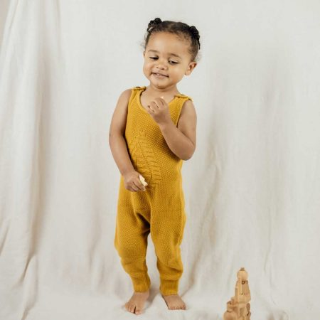 mustard dungaree model