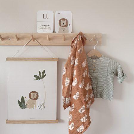 Paper & Bean on Acorn & Pip Loves Safari Jungle nursery prints