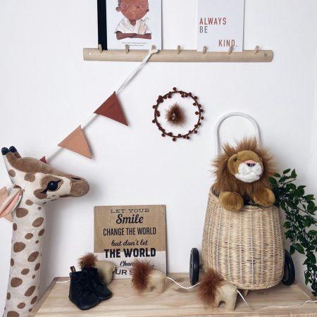 Lion Garland Handmade by Handmade Scandi Co