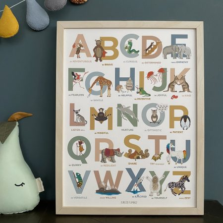 Alphabet of Emotions print by Fearless Flamingo on Acorn & Pip Loves