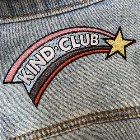 Kind Club iron on patch by Fearless Flamingo on Acorn & Pip loves