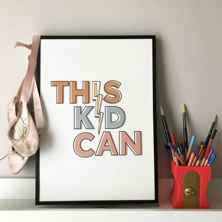 This Kid Can print by Fearless Flamingo on Acorn & Pip Loves