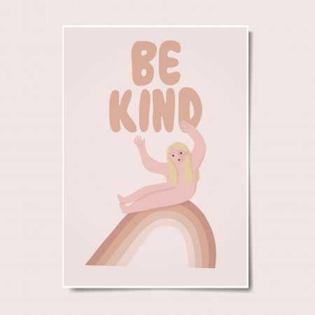 Be Kind Wall Art by Another Wild Story on Acorn and Pip Loves