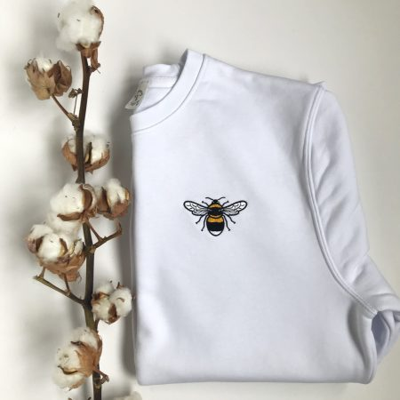 tommy & lottie childrens bee sweatshirt - white