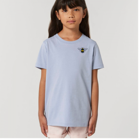 Tommy & Lottie Organic Cotton Kids Serene Blue Bee T Shirt