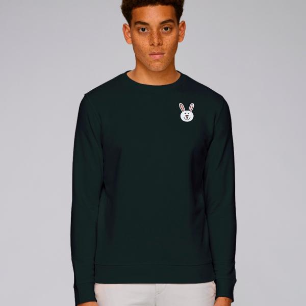 tommy and lottie adults organic bunny sweatshirt - black