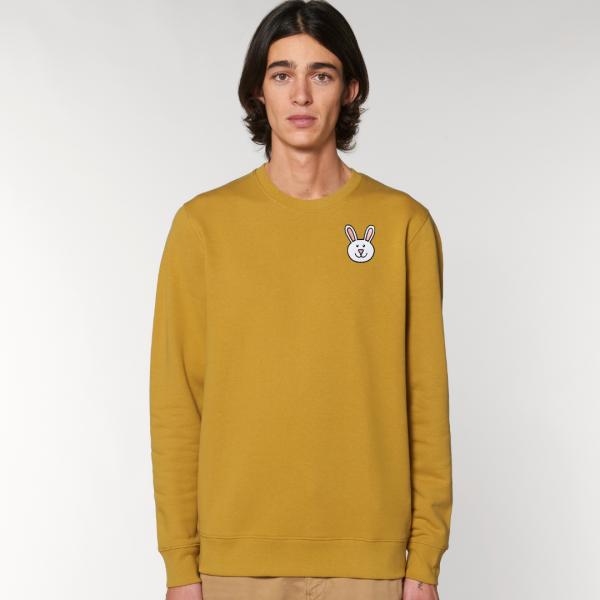 tommy and lottie adults organic bunny sweatshirt - ochre