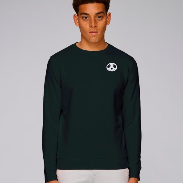 tommy and lottie adults organic panda sweatshirt - black