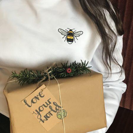 tommy & lottie love your world - bee sweatshirt