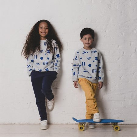 Line Dots Sweatshirt KIDS Cub & Pudding Acorn & Pip