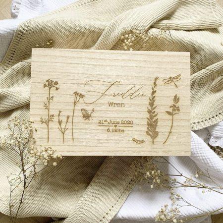 flower memory box